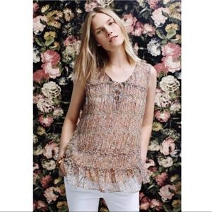 ANTHROPOLOGIE Floreat Calla Floral Lace Up Tank 6